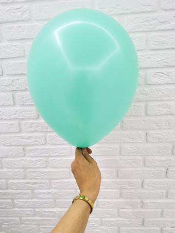 №17 Аквамарин Гелиевый шар пастель 30см с обработкой