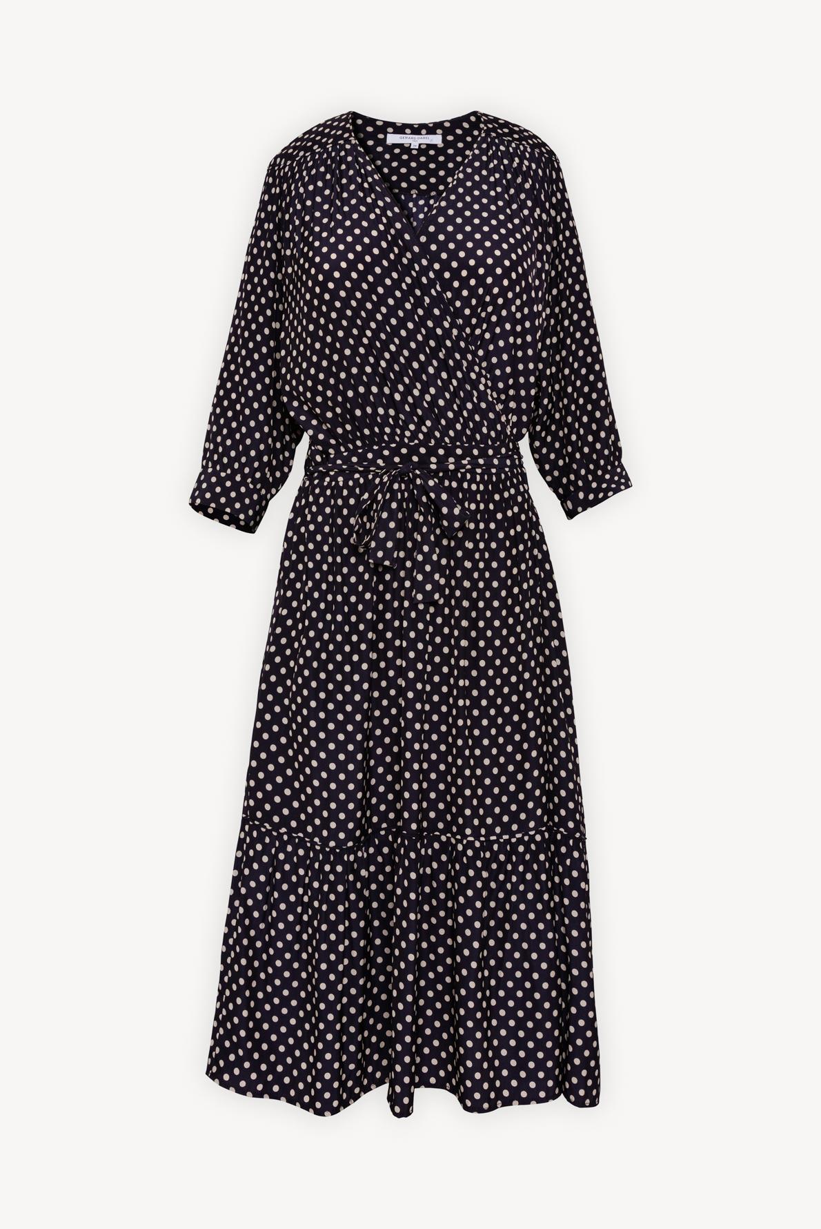 SASHA - Платье с запахом в горошек