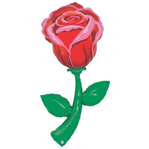Ростовая фигура шар Роза красная 152 см