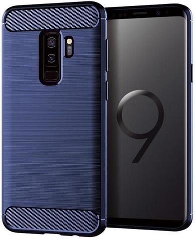 Чехол для Samsung Galaxy S9 Plus цвет Blue (синий), серия Carbon от Caseport