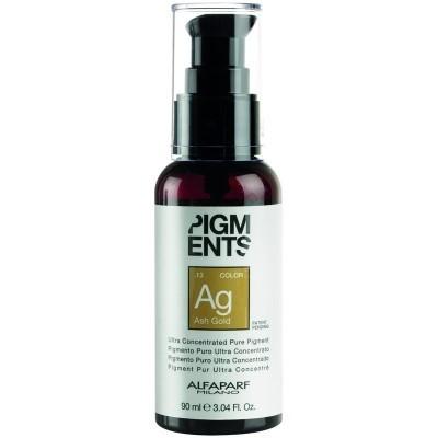 Alfaparf Milano Pigments: Ультра концентрированный пигмент пепельно-золотистый (Pigments Ash Gold .13), 90мл