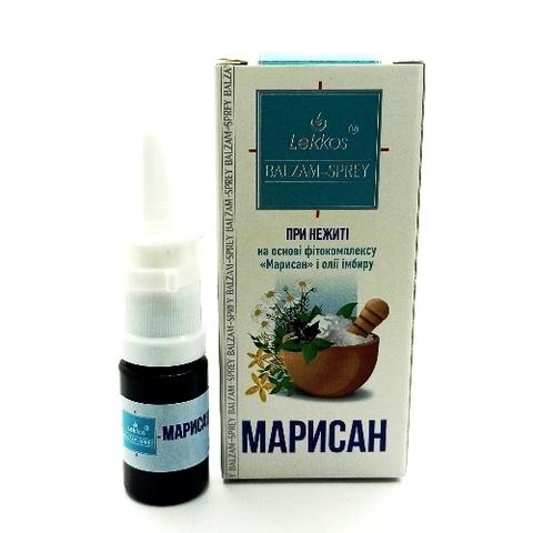 Бальзам-спрей для носа «Марисан» с маслом имбиря ™Леккос