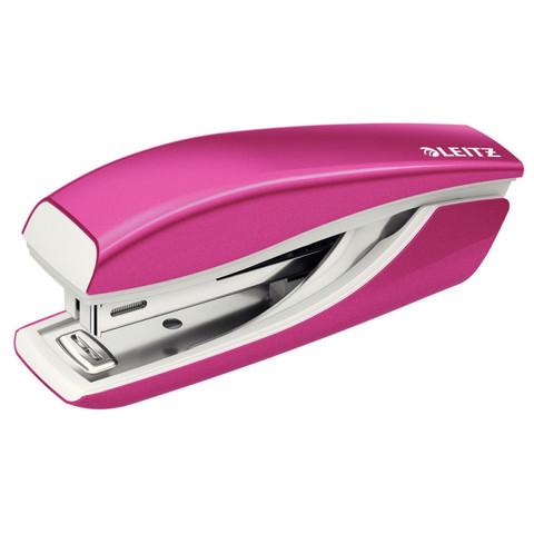 Степлер LEITZ NEXXT (№10) 10 листов, розовый металлик антистеп