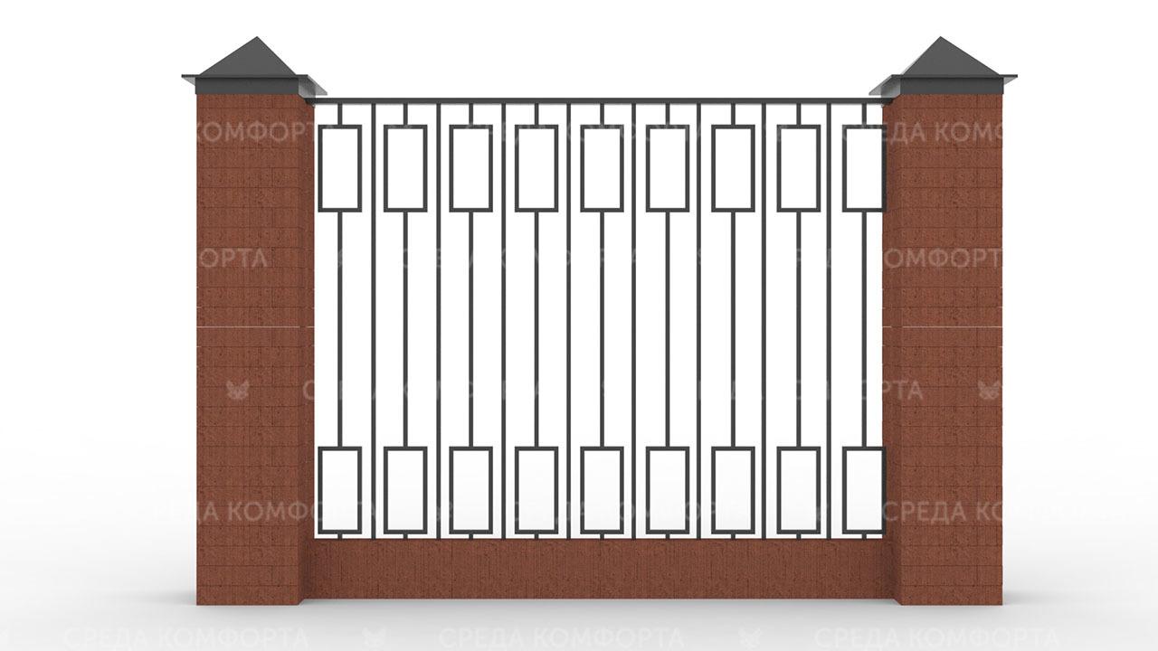 Забор из профильной трубы ZBR0154