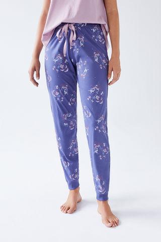 Сині довгі штани з бавовни
