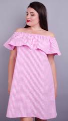 Балі. Пляжний сарафан великих розмірів. Рожева клітинка.