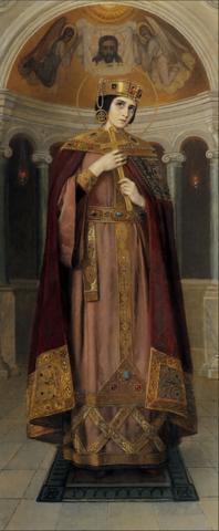 Икона святая царица Александра авт. Бодаревский на дереве на левкасе мастерская Иконный Дом