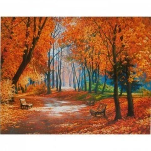 Алмазная Мозаика 20x30 Осень наступает