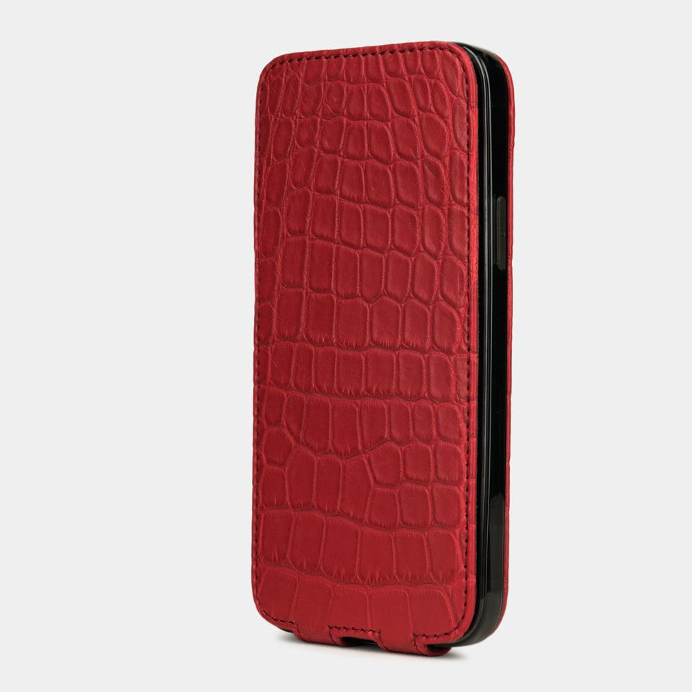 Special order: Чехол для iPhone 12/12Pro из натуральной кожи крокодила, красного цвета