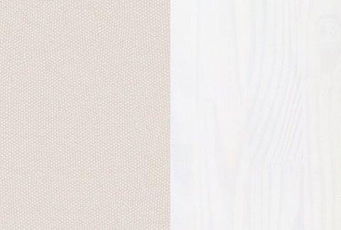 Ткань/Массив: Тетра Молочный/Белая эмаль