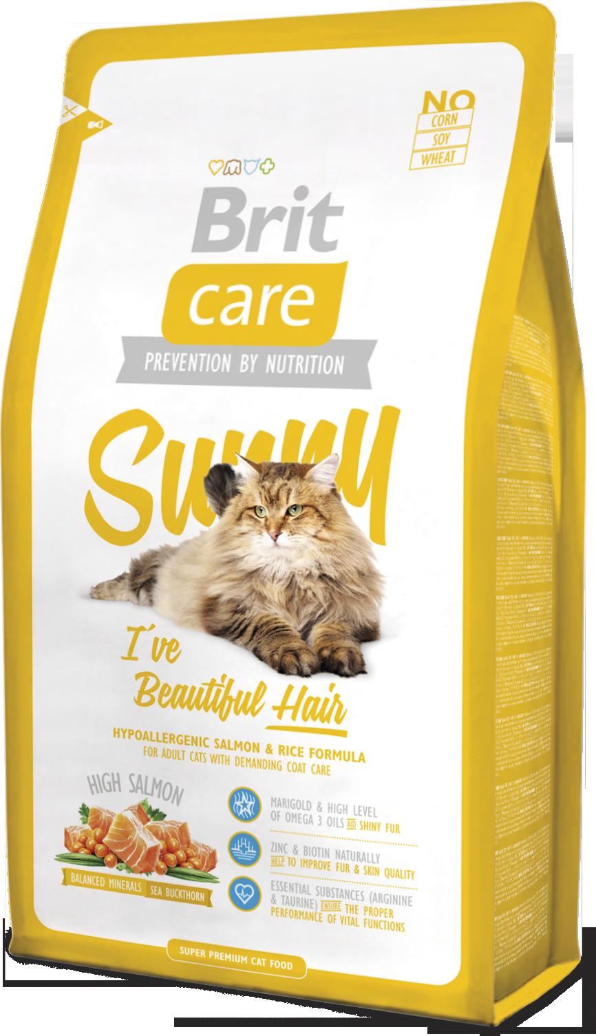Brit Корм для длинношерстых кошек, Brit Care Cat Sunny Beautiful Hair санни.png