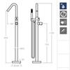 Напольный смеситель для ванны с душевым комплектом TZAR 348503MO - фото №2