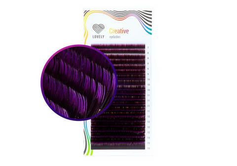 Ресницы двухтоновые фиолетовые Lovely - 20 линий - MIX