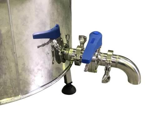 Автоматическая сыроварня Молзавод с краном для слива сыворотки