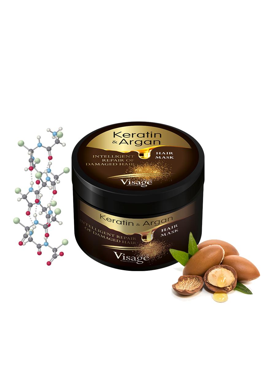 Питательная маска для волос, Visage Keratin&Argan, 500 мл