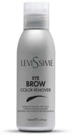 Levissime Очищающий лосьон для снятия краски с кожи Eyebrow Color Remover, 100мл