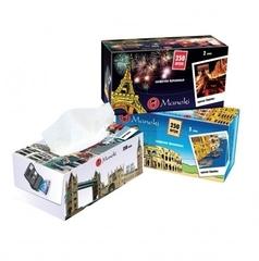 Салфетки бумажные Maneki Dream с ароматом Европы 2 слоя белые 250 шт