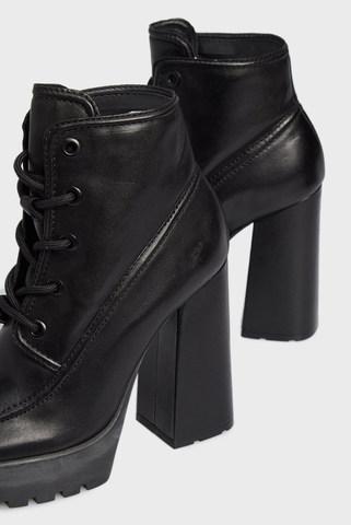 Женские черные кожаные ботильоны Schutz