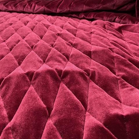 Ткань  курточная бархатная бордовая 3178