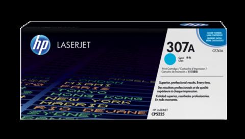 Оригинальный картридж HP CE741A (№307A), голубой