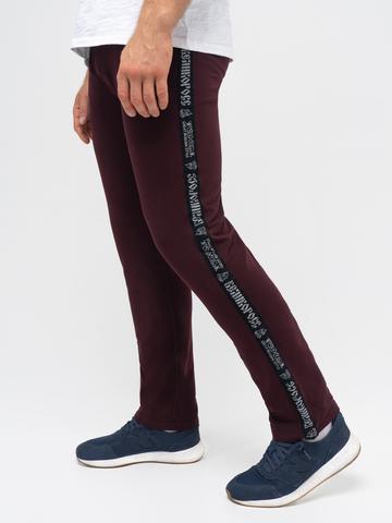 Спортивные штаны «Великоросс» цвета красного вина без манжета