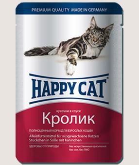 Влажные корма Пауч для кошек Happy Cat кролик в соусе Z-9.jpg