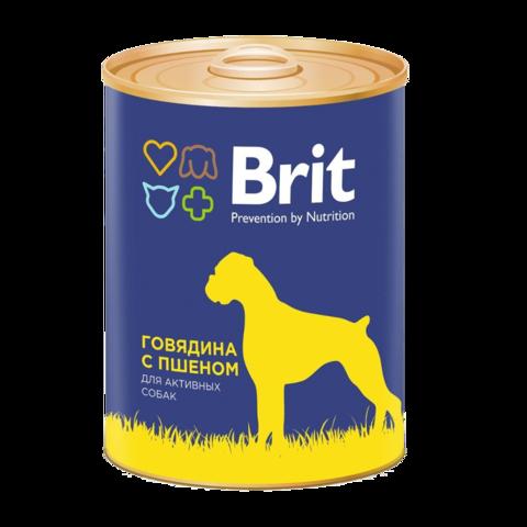 Brit Premium Beef & Millet Консервы для собак Говядина и Пшено