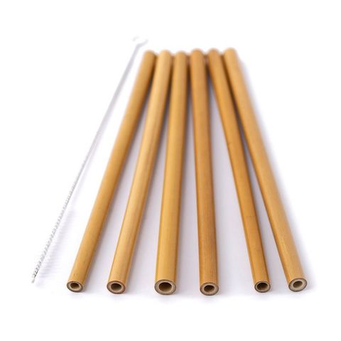 Набор бамбуковых трубочек 6+1