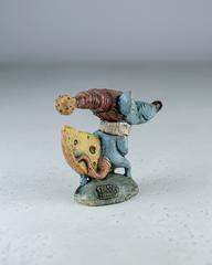 Скульптура из шамотной глины «Мышонок с сыром», 15х11 см, Falco Ceramic