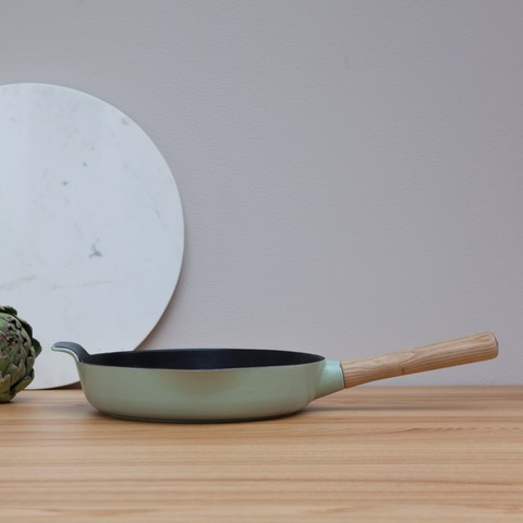 Сковорода чугунная 26см 2,5л (зеленая) Ron