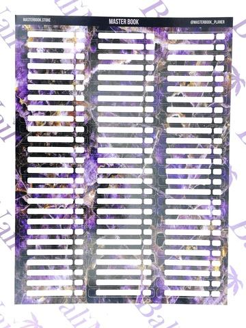 Наклейки на типсы 75шт, #4 (фиолетовый камень)