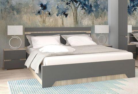 Спальня Анталия-1 Горизонт дуб сонома, графит софт