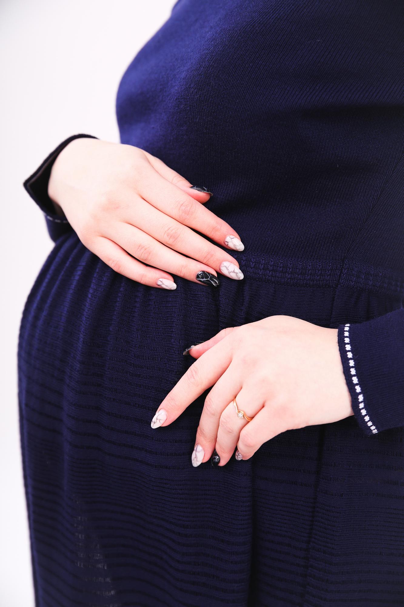 Туника для беременных 03814 синий