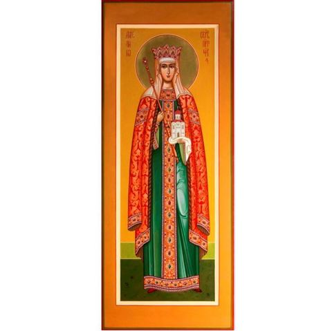 Купить икону святая Ангелина на дереве на левкасе мастерская Иконный Дом
