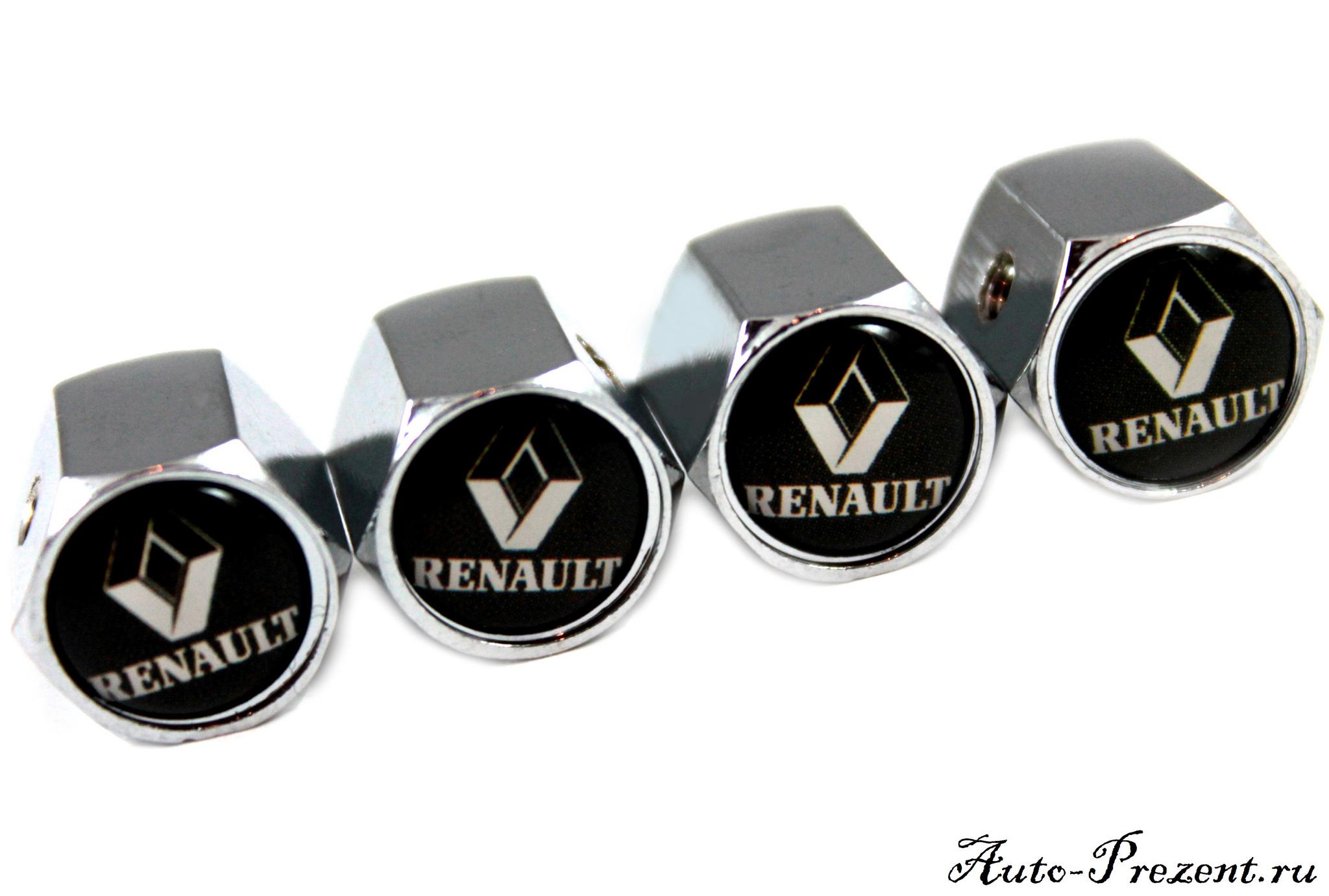 Колпачки на ниппель RENAULT с защитой от кражи