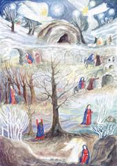 Адвентский календарь Анастасии Старостиной (42 х 60 см)
