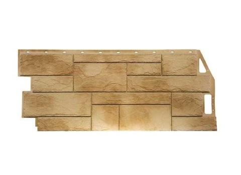 Фасадная панель Камень природный - Песочный