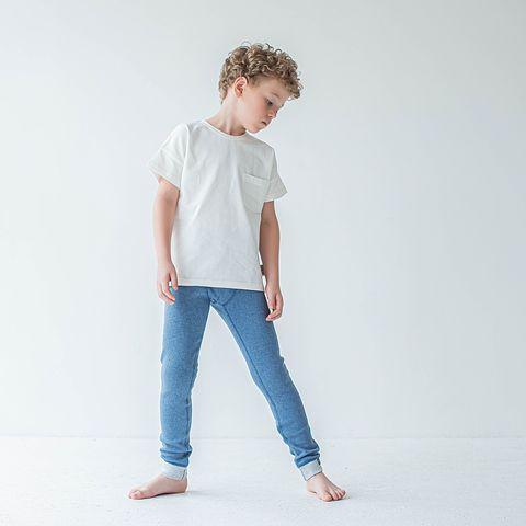 Thermal leggings for teens - Denim