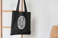 Сумка-шоппер с принтом FC ACM Milan (ФК Милан) черная 003