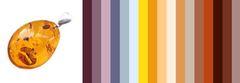 с чем носить кулон из коньячного янтаря - цветовая шпаргалка для подбора одежды