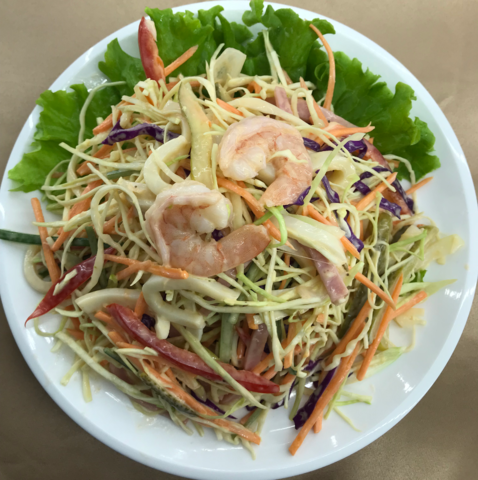 1--7Креветки с овощами от шеф- повара大虾俄式沙拉