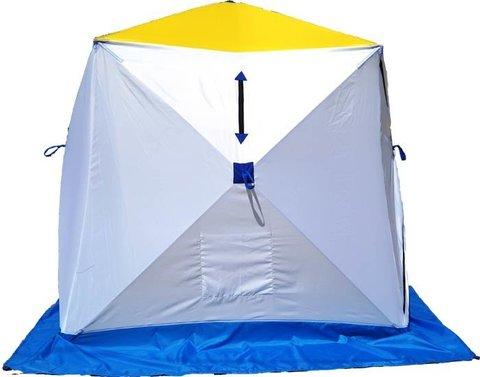 Палатка для зимней рыбалки Стэк Куб-2 (трехслойная, 185*185, 180, фиберглас)