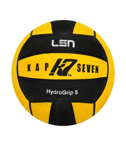 Официальный ватерпольный мяч KAP7 Official LEN Game Ball K7 5 yellow-black Размер 5 мужской арт.B-K7-LEN-5-0109