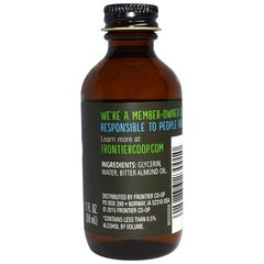 Миндальный ароматизатор, без спирта, 59 мл Frontier Natural Products