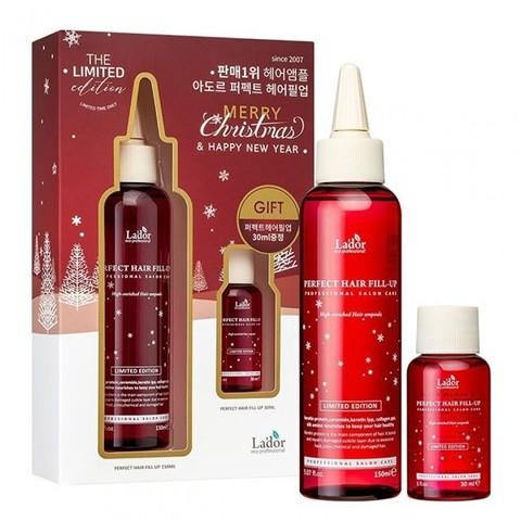 Lador Новогодний подарочный набор филлеров для волос Merry Christmas Limited Edition Perfect Hair Fill-Up 150 мл + 30 мл