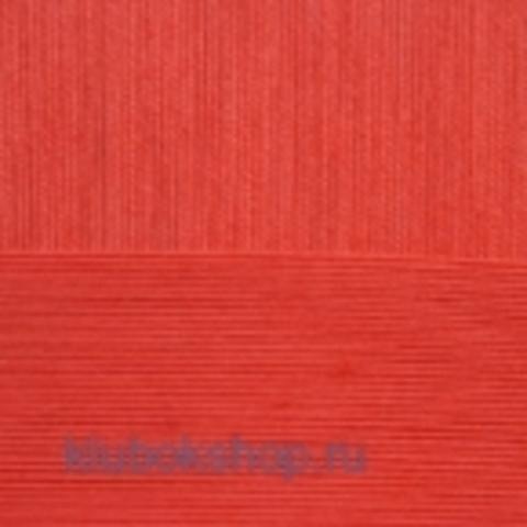 Пряжа Цветное кружево (Пехорка) цвет 396 настурция купить в интернет-магазине klubokshop.ru