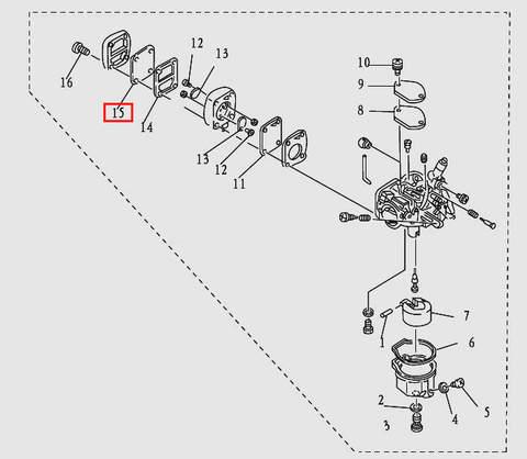 Диафрагма для лодочного мотора T9.8 Sea-PRO (5-15)