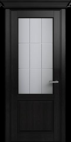 CLASSIC 521 Дуб Черный стекло Английская Решетка