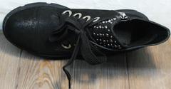 Черные женские ботинки на шнурках Rifellini Rovigo 525 Black.