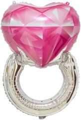 К Сердце, Кольцо с бриллиантом, Розовый, 32